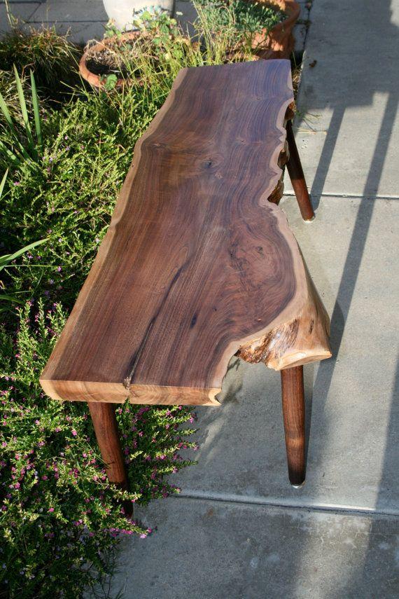 Modern Live Edge Walnut Bench By TheTimberLibrary On Etsy, $465.00. Raw WoodWalnut  WoodSolid WoodFurniture ...