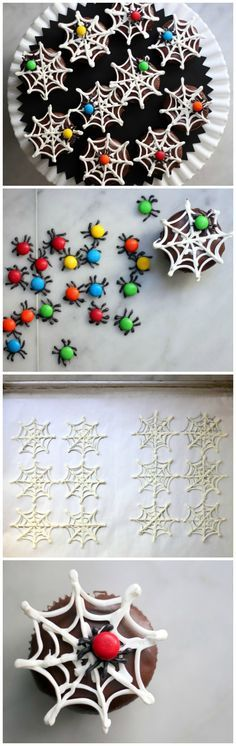 'Spiders' and 'Webs' Make Your Cupcakes Extra Spooky!
