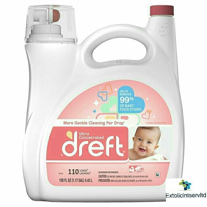 Dreft Ultra Concentrated Liquid Laundry Detergent 110 Loads 150