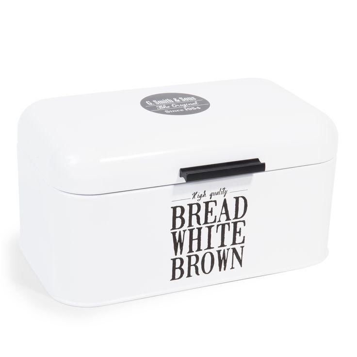 Brotdose WALLACE aus Metall, weiß