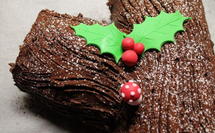 Karácsonyi fatörzs torta