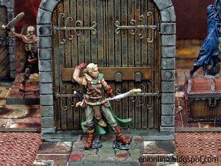 Heroes in action - Dungeon Saga painted miniatures ~ Enionline Alternative Worlds  #28mm #dungeondsaga #dungoensanddragon #d&d #miniature #heroes #painting #fantasy #boardgame #madriga #elf #elfo