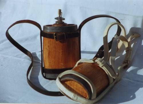 19th Century Victorian British Army water bottle and carriage