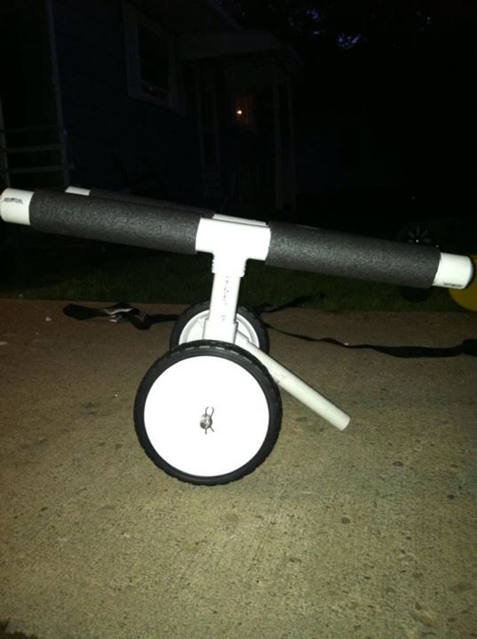 16 best pvc projects images on pinterest pvc pipes pvc for Harbor freight fishing cart