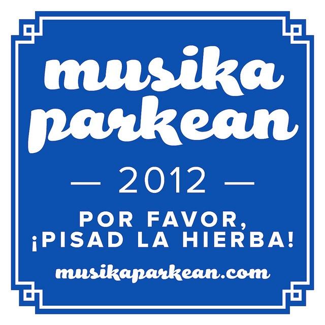 """Musika Parkean 2012 - """"Donostia-Donostiarra"""" pegatina"""