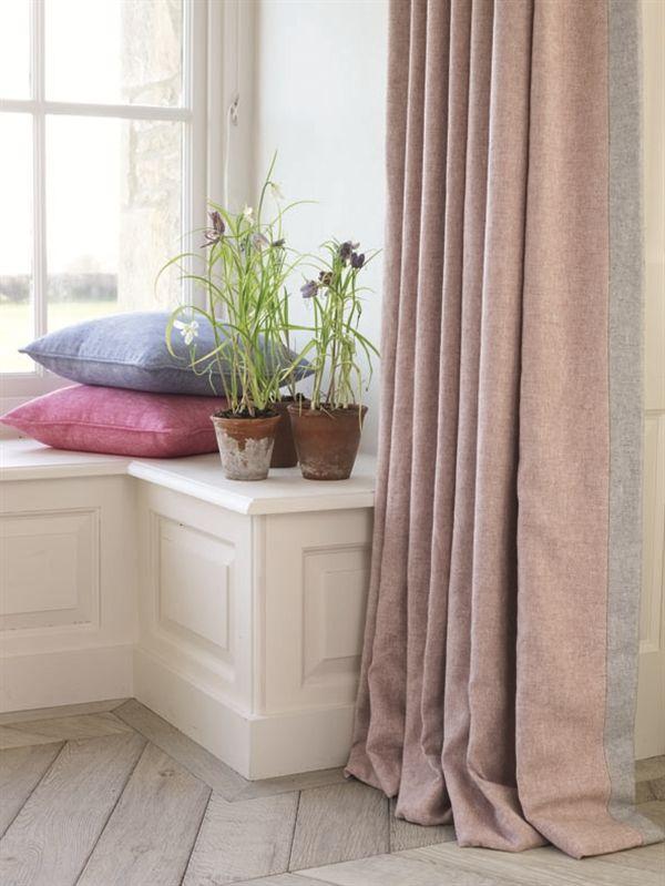 Linwood Fabrics - Drift in a dusky pink.  Very subtle.