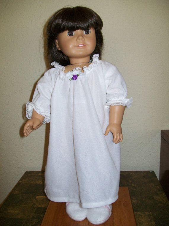 White Nightgown for Felicity American Girl Doll or 18 Inch