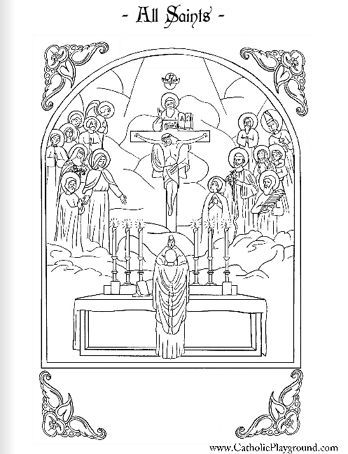 all saints coloring page november 1st catholic playground - Saints Coloring Pages
