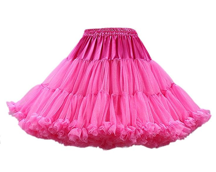 Honeystore Damen Mädchen Kinder Tanzen Ballett Tutu Rock Ballett Pettiskirt Prinzessin Tanz Röckchen Tutu Kostüme Dunkel Koralle One Size