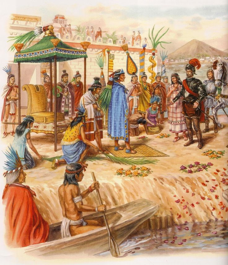 Cortez conquered the aztecs