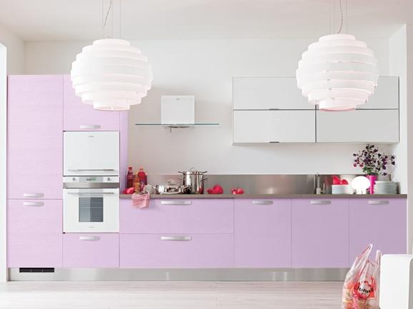 Cucina In Frassino Moderna : Cucina lineare moderna l.390 cm anta poro ...