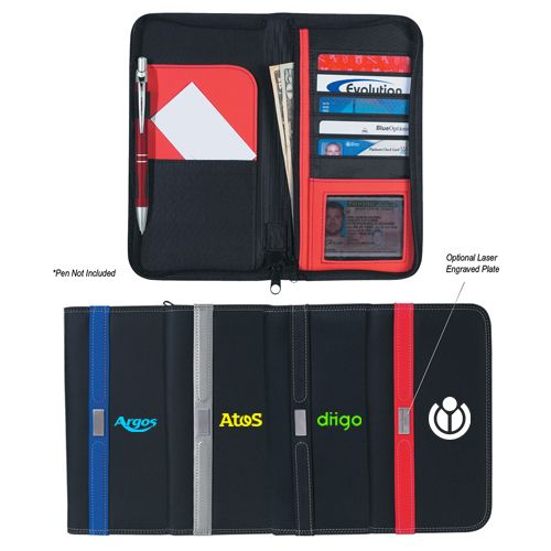 Personalized contemporary travel wallet with zippers will easily become the representative of your brand due to its compact sized design. Try Now!   #CustomWallets  #BestSeller #PromoProducts