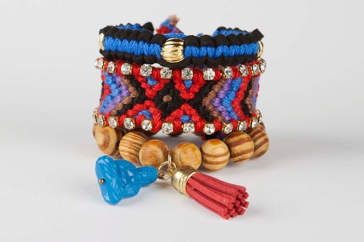 Friendship bracelet Gypsy Soul - Red/Blue