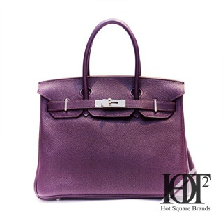 Hermes purple Birkin bag