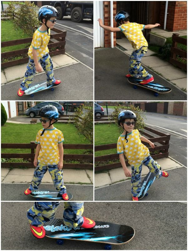 Mini on an Elektra skatboard and coordinating helmet. To see the whole collection visit ozbozz.co.uk