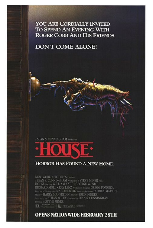 House Movie Poster | Love these movies and I'll always remember this great poster.
