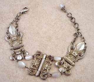 Bracelet made from vintage hinges!