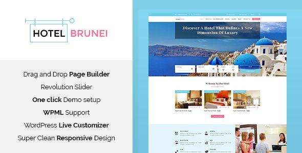 cool Hotel Brunei - Hotel Booking WordPress Theme (Travel)