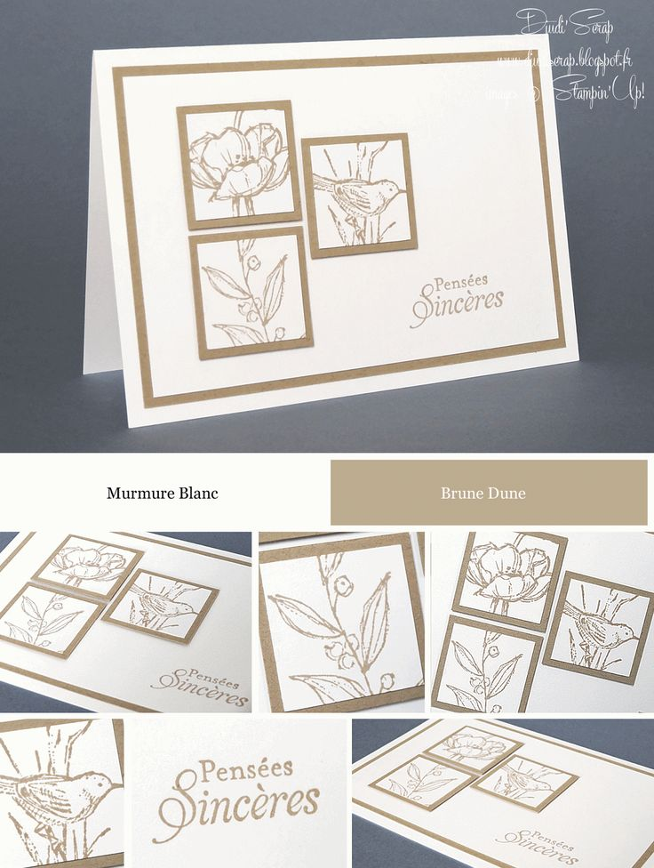 "Stampin'Up! - Carte de Condoléances ""Set Simples Esquisses"""