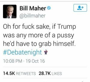 Funniest Memes of the Final Presidential Debate: Bill Maher on Trump