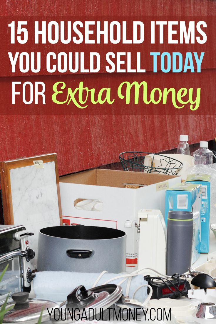 Need to make money quickly? Take a look around your house. With a little bit of work and the willingness to purge, you can make hundreds, or even thousands of dollars by selling things you don't even use! Here are 15 household items you can sell today for extra money. via @YoungAdultMoney