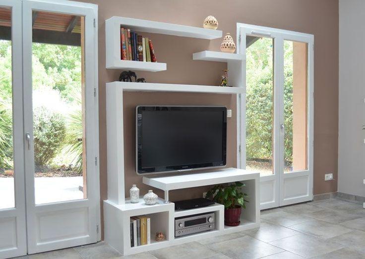 Les 25 meilleures id es de la cat gorie fabriquer meuble for Meuble tv moderne