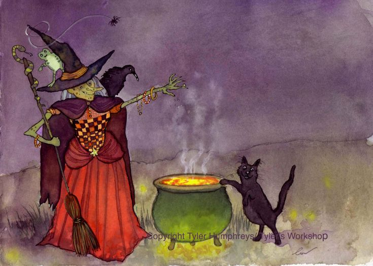 Halloween Greeting Card Funny Witch U0026 Black Cat By Tylersworkshop #boden  And #magicalmenagerie