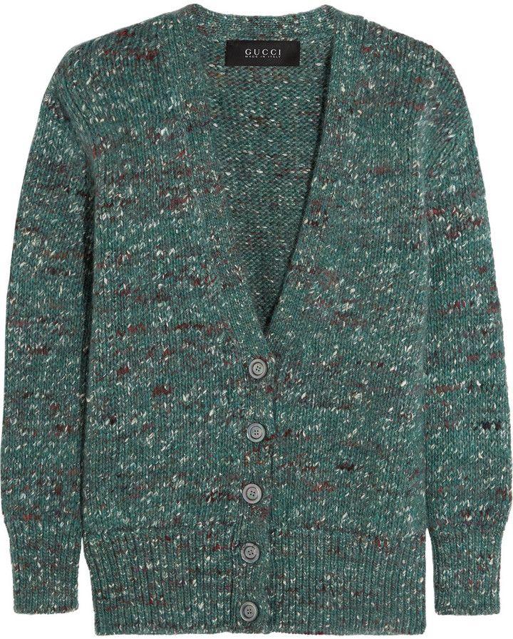 Gucci Mélange Wool-Blend Cardigan