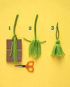 Four Homemade Trees: Yarn - Martha Stewart Holidays