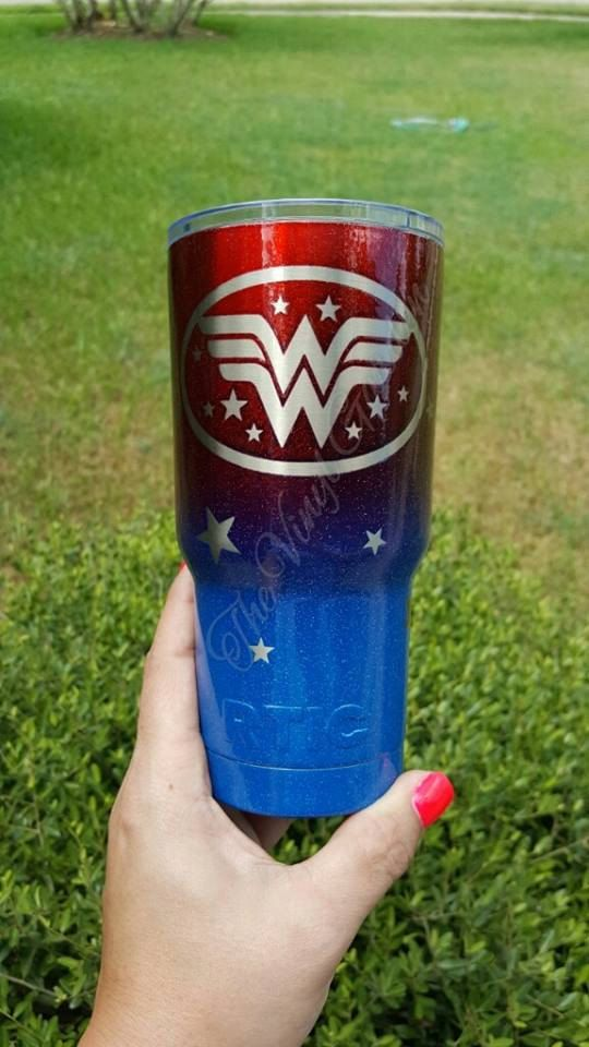 Powder Coated Wonder Woman RTIC Powder Coated by TheVinylGarden