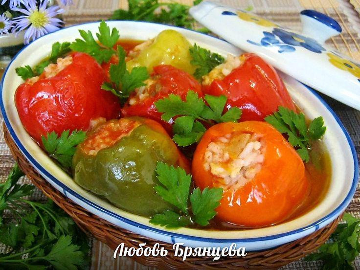 Рецепт с фото: Фаршированный перец курицей, рисом и яблоками