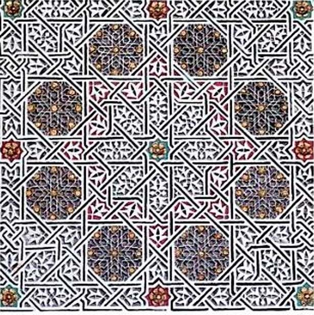 Unusal Stars – Floral zelij motifs. Royal Palace Throne, Rabat