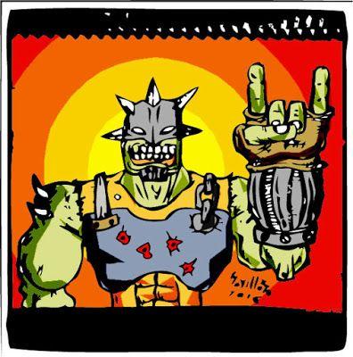 soyellobo: MUTANTE VENGADOR ROCKERO. realizado 'free hand' con lápiz y luego digitalizado, vectorizado y colorizado con #photoshop e #illustrator. #digitalart #artedigital #art #arte #comic #diseño #design #mutante #monstruo #monster #madmax #postapocalipsis #rock #rocker #rockomics #soyellobo