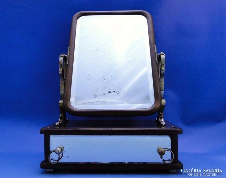 0B983 Antik szecessziós pipere tükör