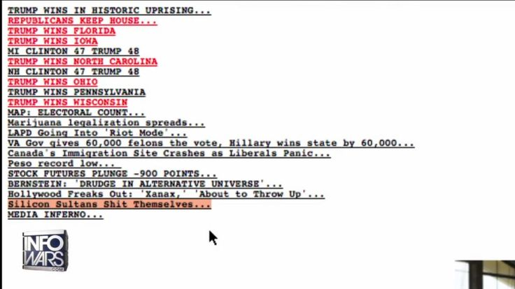 Hey new 'pedes. Just wanted to share this screenshot of Drudge on election night. P.S. Infowars.com. Bill Clinton is a rapist.