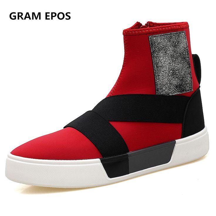 Купить товарGram Epos Повседневная Мужская обувь Человек Туфли без каблуков Модные дышащие хип хоп высокие Обувь Для мужчин осень зима Botas Обувь для мужчин Zapato в категории Мужская повседневная обувьна AliExpress. Gram Epos Повседневная Мужская обувь Человек Туфли без каблуков Модные дышащие хип-хоп высокие Обувь Для мужчин осень-зима Botas Обувь для мужчин Zapato