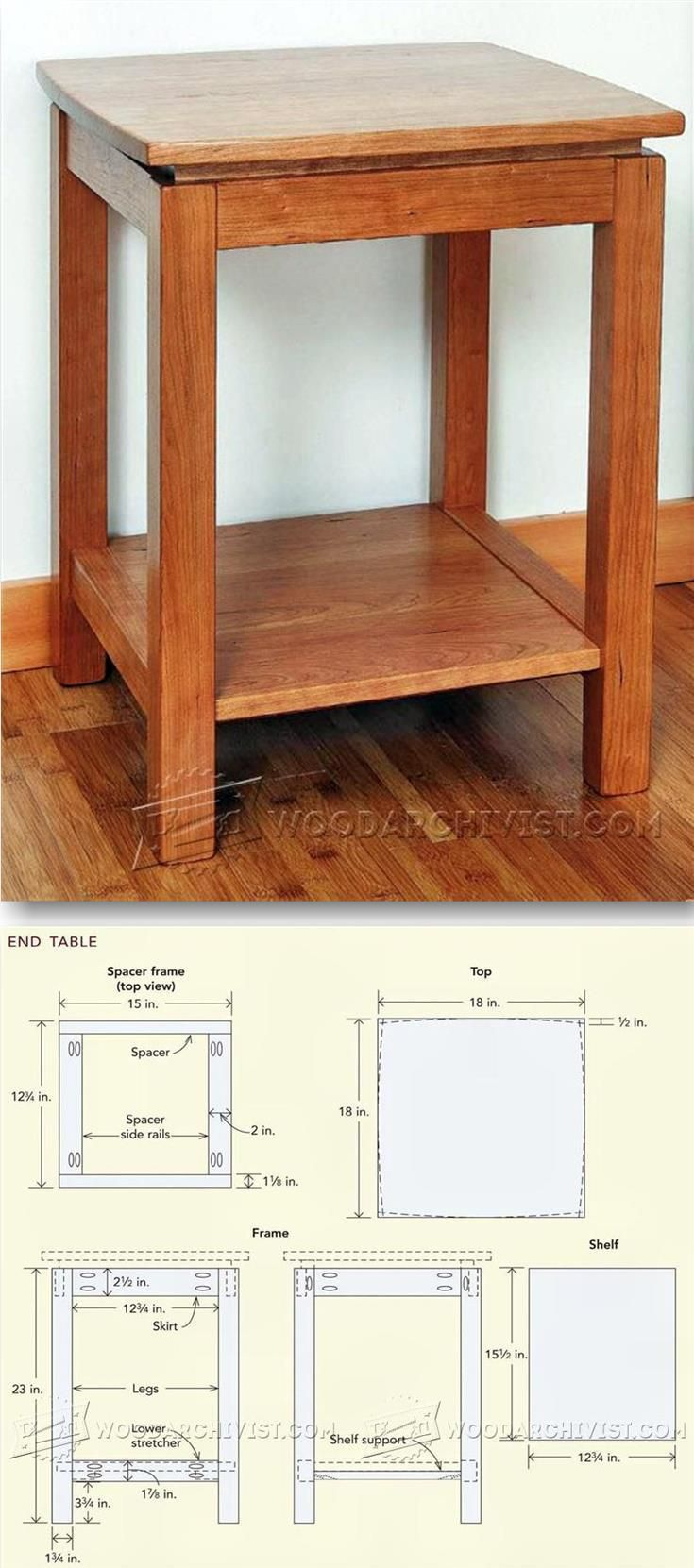 Build End Table   Furniture Plans and Projects   Woodwork  Woodworking  Woodworking  Plans  Woodworking Projects. Best 25  End table plans ideas on Pinterest   End tables  Wood end