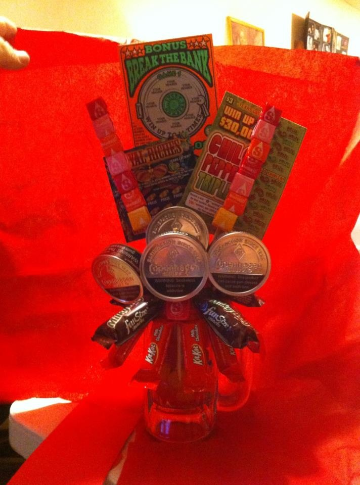 gift ideas creative gift boys birthday favorite candies lottery ticket ...