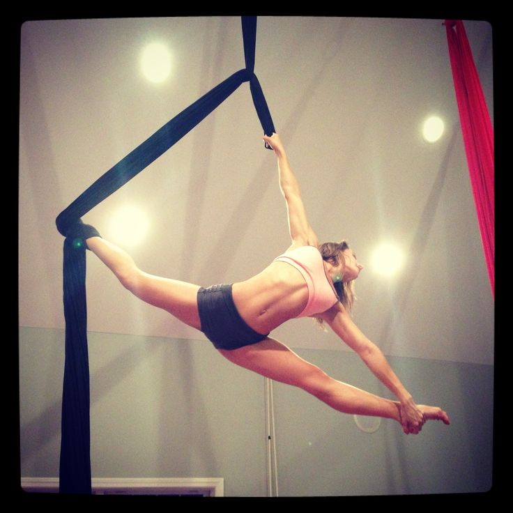 Aerial silks @Megan Ward Ward Ward Dula-Elliott ive always wanted to learn how to do this!!
