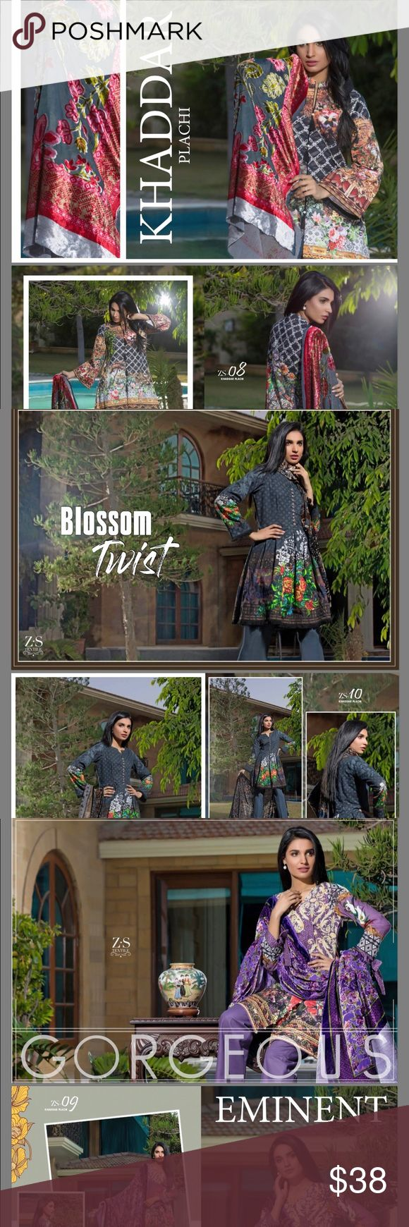 """Shalwar Kameez These are beautiful pieces of winter material KHADDAR. With palchi""""valvet"""" duppta. These are unstitched pieces which can be stitched. Once request for 12$ any size required. Dresses"""
