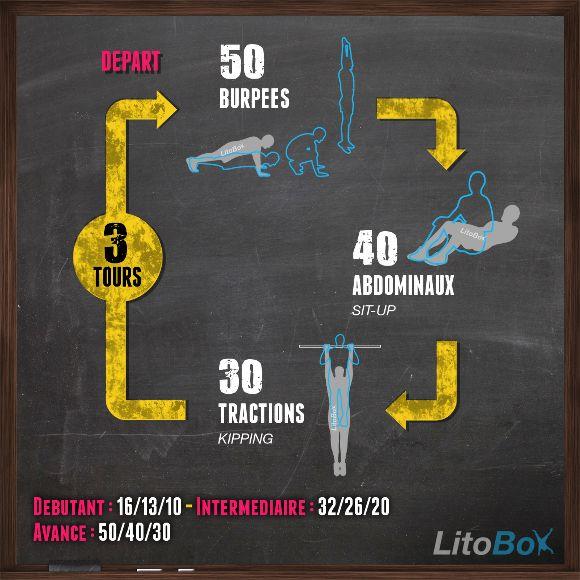 Séance de CrossFit au poids du corps pour attaquer la semaine ! Intense après la petite absence remarquée de la fin de semaine dernière (bébé malade :-/ ).  Bon courage et bonne semaine à tous !  #litobox #crossfit
