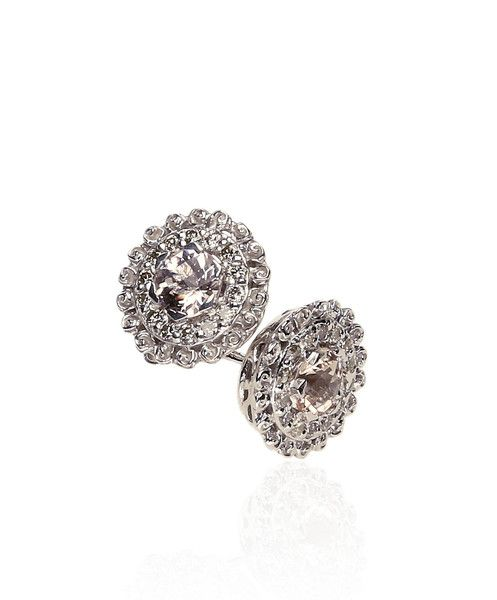 Morganite Centre Studs by Jenna Clifford.