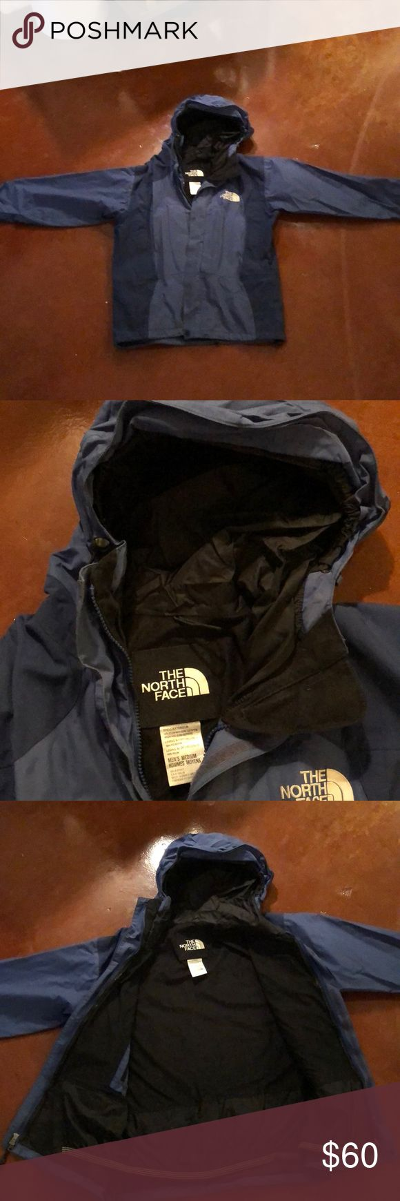 NorthFace Men's Winter/Ski/Snowboard Jacket. Sale The North Face Mens winter jacket. Perfect for skiing or snowboarding. Really great color blue. Heavy Shell. Layer underneath as needed with a fleece etc. Gortex. Gently worn. Size Medium. The North Face Jackets & Coats Ski & Snowboard