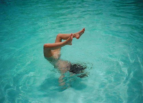 girl, handstand, summer