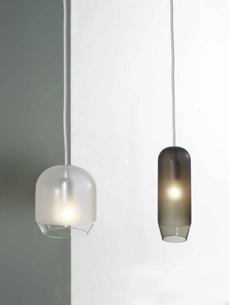 Glass pendant lamp RASO by Ex.t design Sebastian Herkner