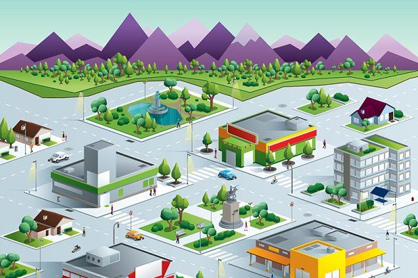 Isometric Neighborhood The Neighbourhood Isometric House Styles