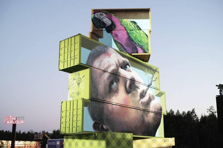 Dit is wat er gebeurt als je graffitikunstenaars met zeecontainers laat spelen…