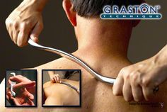 Graston Technique helps break down adhesions and scar tissue in the muscles. This stimulates the tissue to produce softer, smoother and healthier tissue.