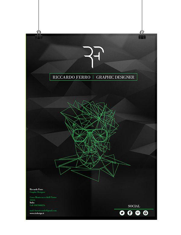 Riccardo Ferro, Personal Brand Identity by Riccardo Ferro, via Behance