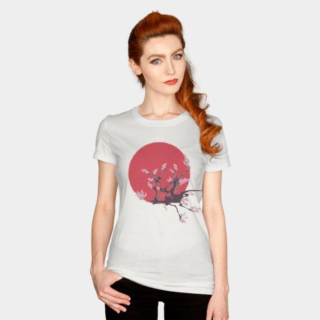 Rising Sun. #designbyhumans #japanese #asian #cherryblossom #tshirt #tshirtdesign #apparel #womensfashion #traditional